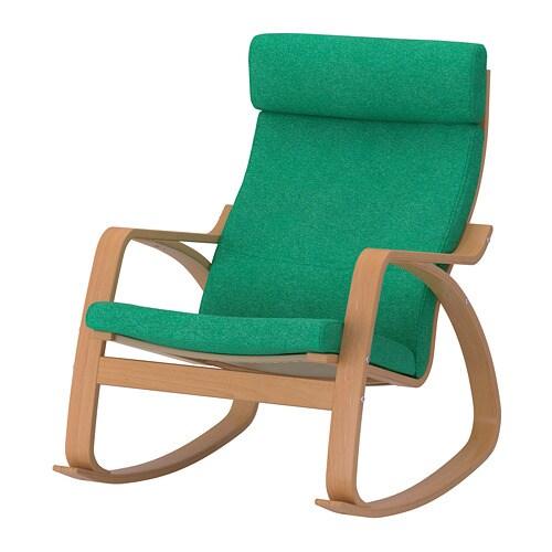 po ng schaukelstuhl lysed leuchtend gr n ikea. Black Bedroom Furniture Sets. Home Design Ideas