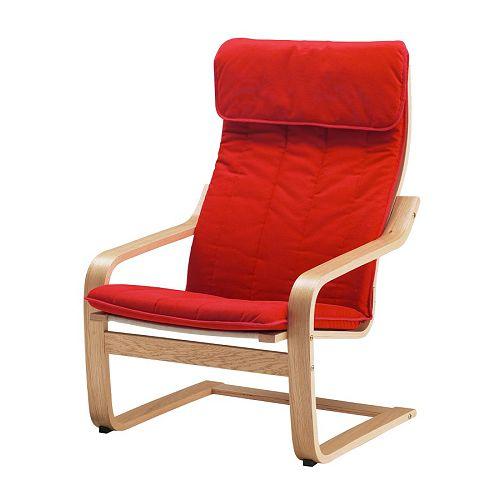 po ng sessel ransta rot ikea. Black Bedroom Furniture Sets. Home Design Ideas