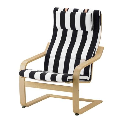 Sessel ikea schwarz  POÄNG Sessel - Stenli schwarz/weiß - IKEA