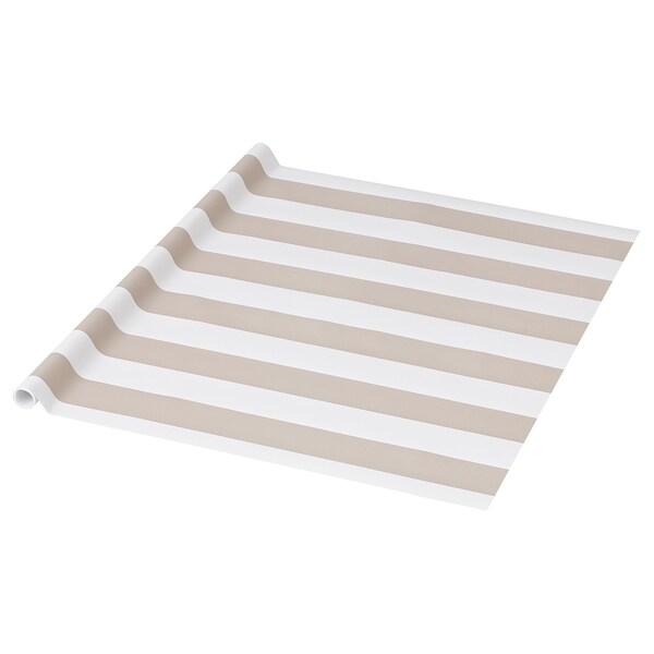PURKEN Geschenkpapierrolle, beige/Streifen, 3.0x0.7 m