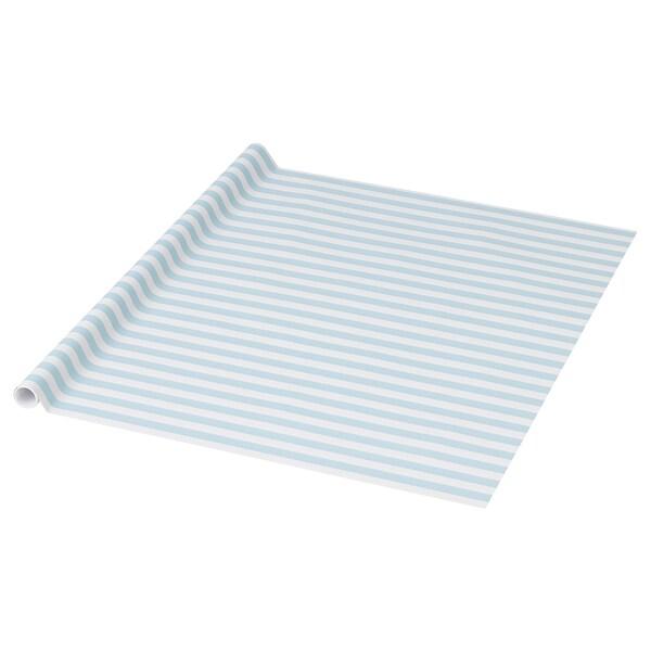 PURKEN Geschenkpapierrolle, hellblau/Streifen, 3.0x0.7 m