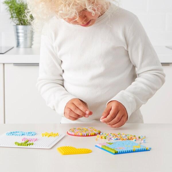 PYSSLA Bügelperlen, Pastellfarben, 600 g