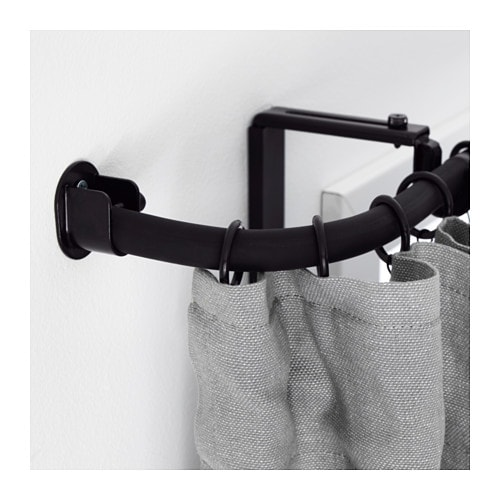 r cka eckverbindung f r gardinenstange schwarz ikea. Black Bedroom Furniture Sets. Home Design Ideas