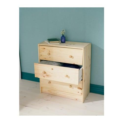 Kommode ikea holz  RAST Kommode mit 3 Schubladen - IKEA