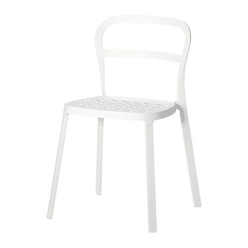 Ikea Stuhl Norvald Weiß ~ REIDAR Stuhl, drinnendraußen Der Stuhl aus Aluminium ist für die