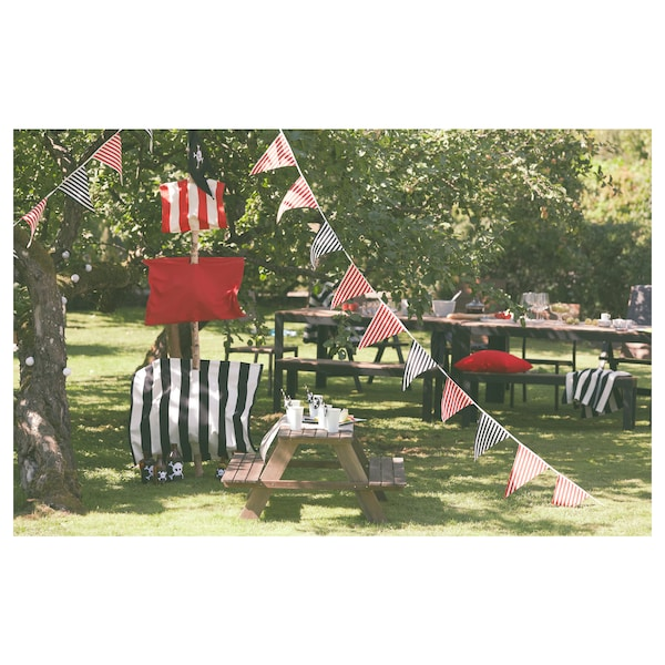 RESÖ Picknicktisch für Kinder graubraun lasiert 92 cm 89 cm 49 cm