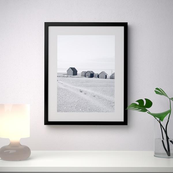 RIBBA Rahmen, schwarz, 40x50 cm