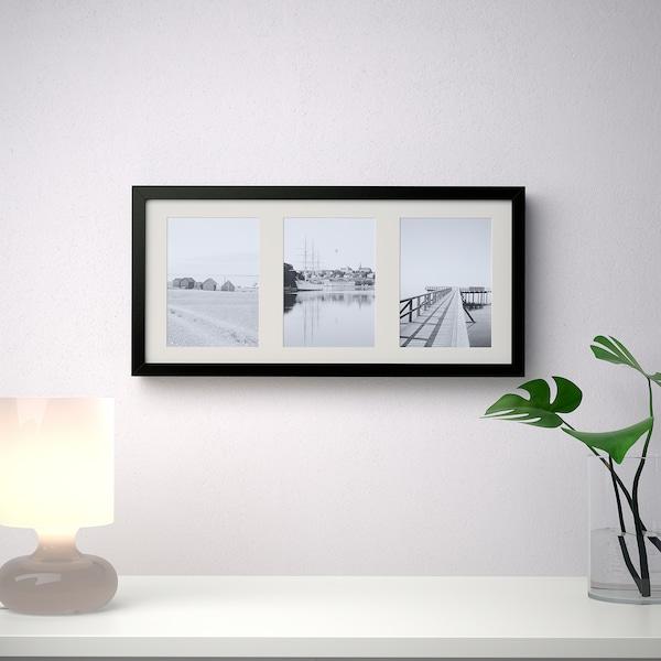 RIBBA Rahmen, schwarz, 50x23 cm