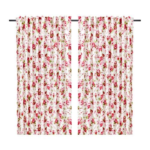 Vorhänge Ikea rosali gardinenpaar ikea