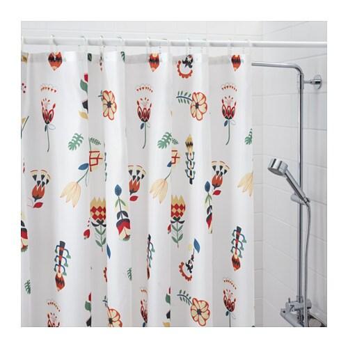 Duschvorhang Ikea ikea rosenfibbla duschvorhang in weiß mit blumenmuster 180x200cm