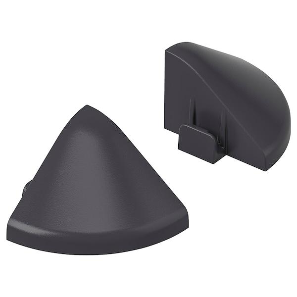 RUNNEN Eckverbinder für Kantenleiste/außen, dunkelgrau