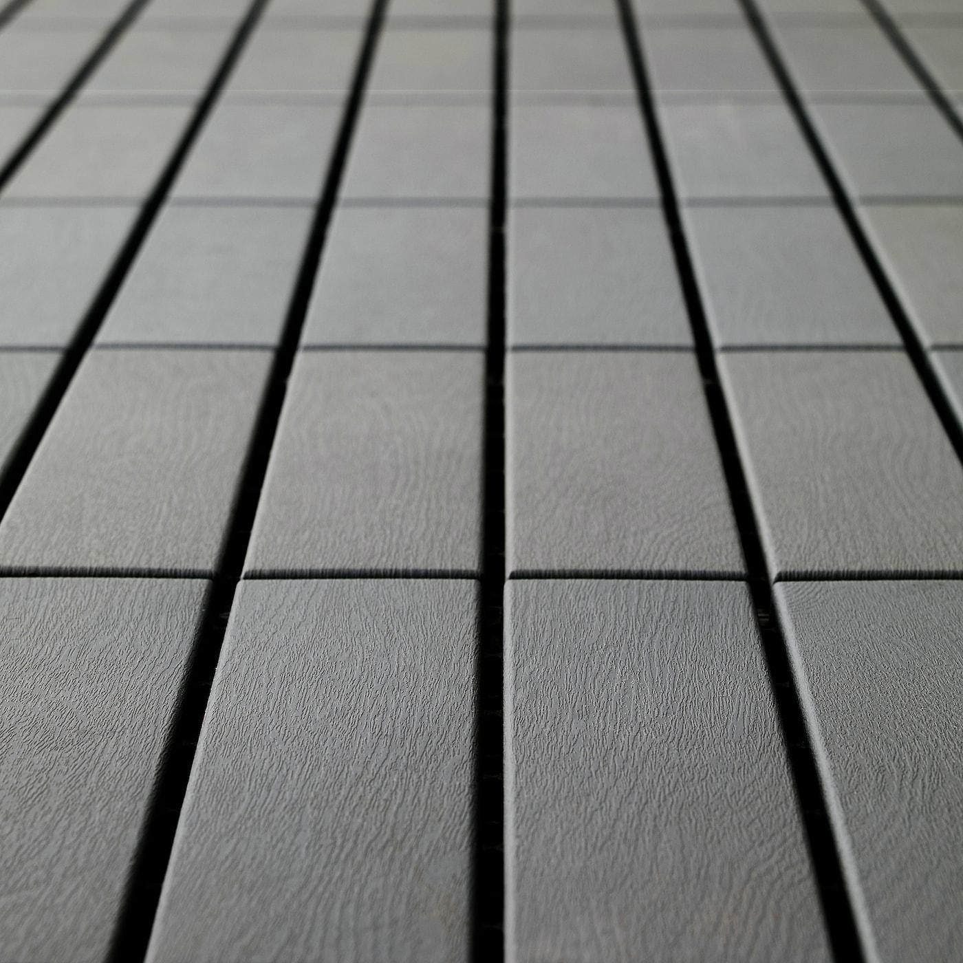 IKEA RUNNEN 9-er Pack Bodenrost grau Balkon Terrasse Bodenbelag Bodenfliesen NEU