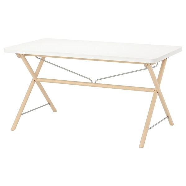 RYDEBÄCK Tisch, weiß/Dalshult Birke, 150x78 cm