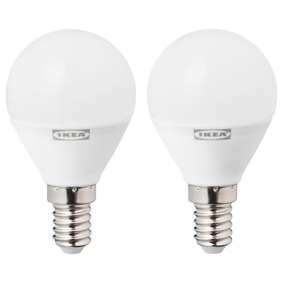 RYET LED-Leuchtmittel E14 470 lm rund opalweiß 2700 K 470 lm 45 mm 4.5 W 2 Stück