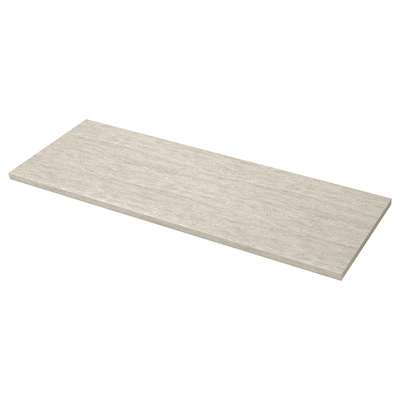 SÄLJAN Arbeitsplatte, beige Steinmuster/Laminat, 246x3.8 cm