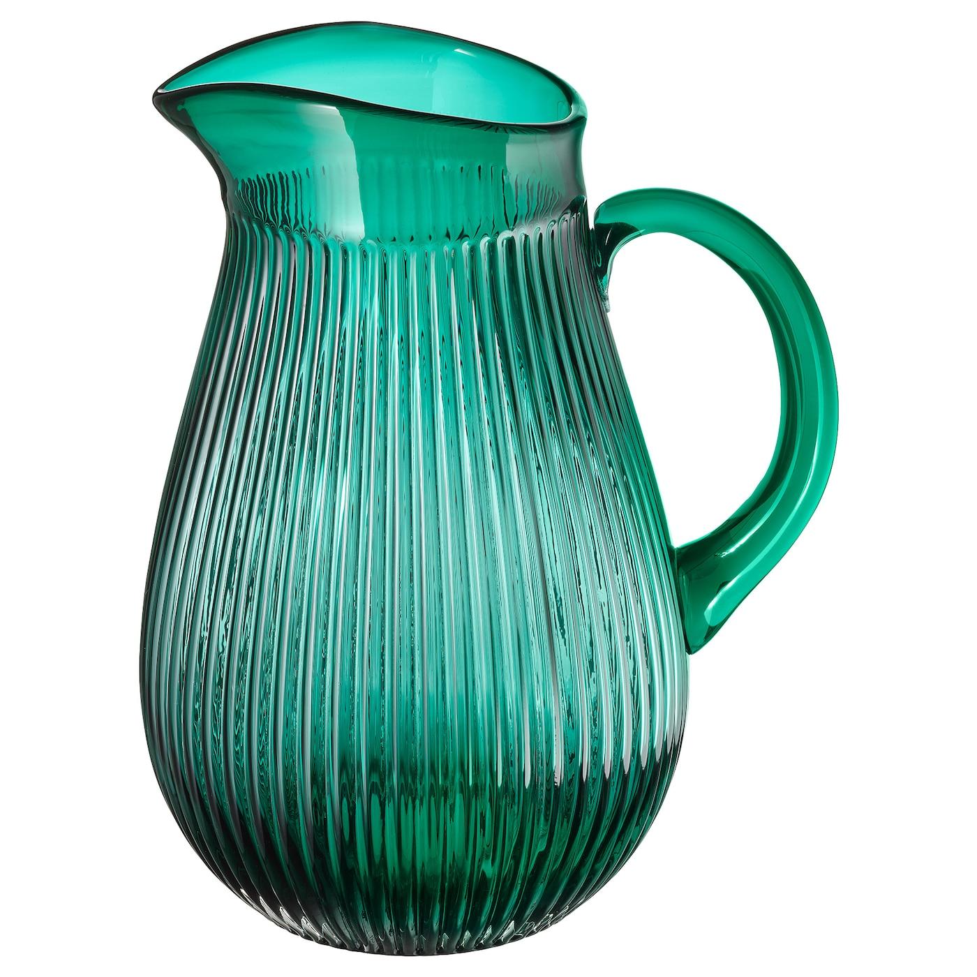 SÄLLSKAPLIG Kanne - gemustert/grün 2 l