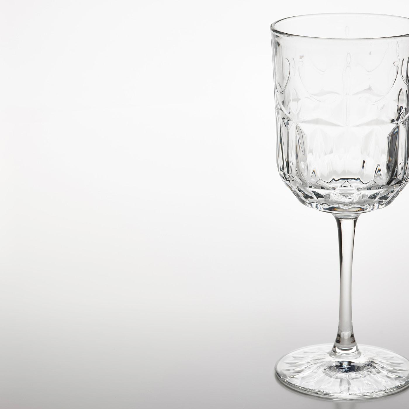 SÄLLSKAPLIG Weinglas, Klarglas/gemustert, 27 cl
