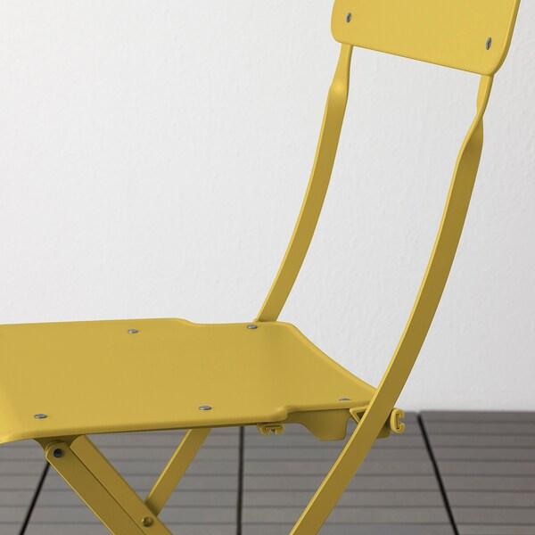 SALTHOLMEN Stuhl/außen, faltbar/gelb