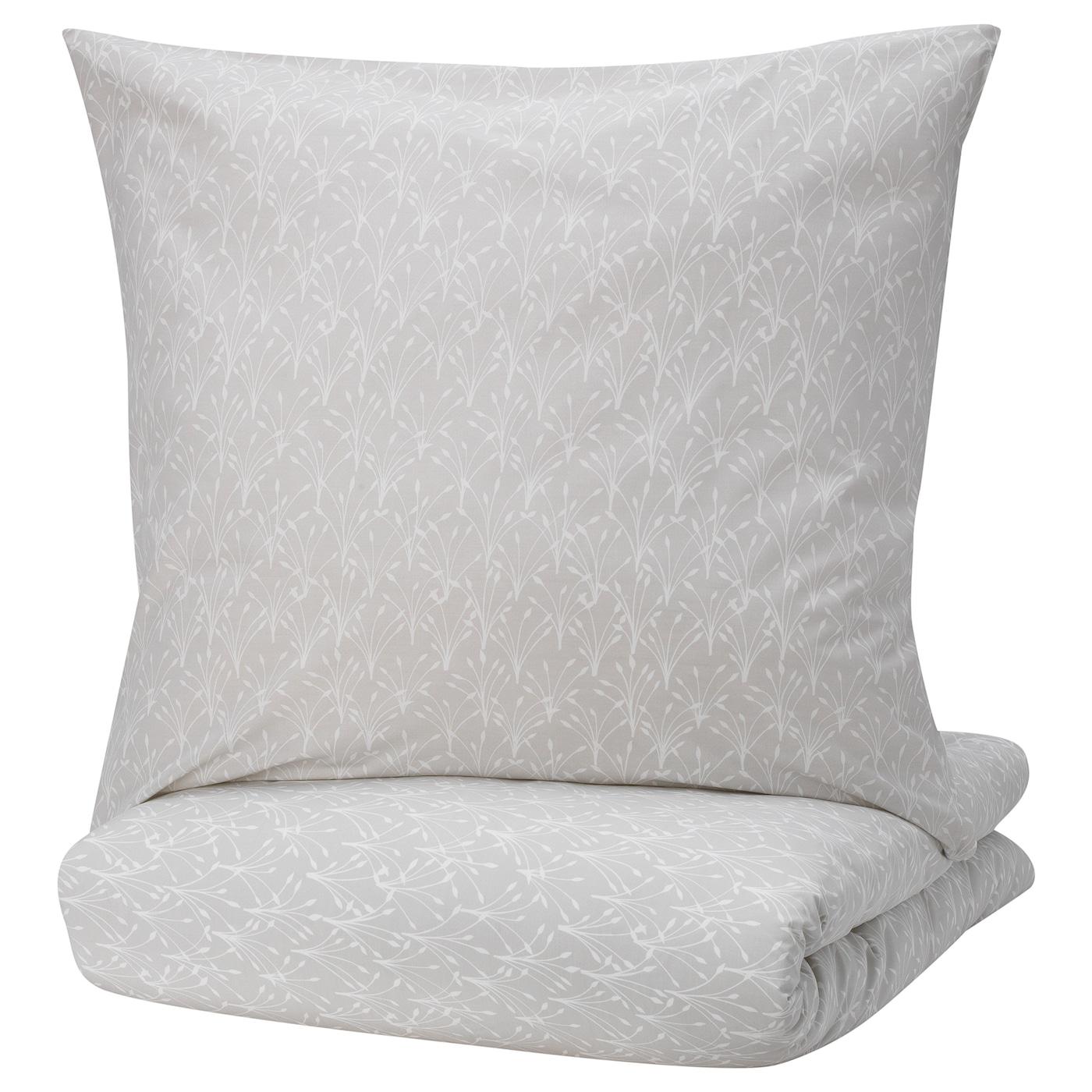 IKEA SOMMARASTER 2 tlg Bettwäsche 140x200  80x80 Garnitur Bettbezug weiß NEU
