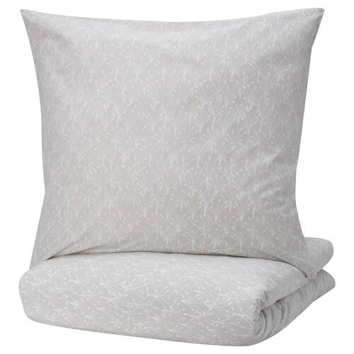 SALTÖRT Bettwäscheset, 2-teilig grau/weiß 200 cm 140 cm 80 cm 80 cm