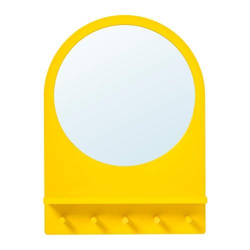 Saltröd Spiegel Mit Ablage Und Haken Gelb Ikea