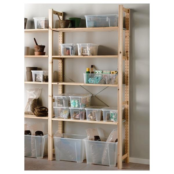 SAMLA Box mit Deckel, transparent, 39x28x28 cm/22 l