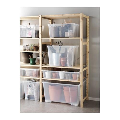 Samla Box Mit Deckel 78x56x44 Cm 130 L Ikea