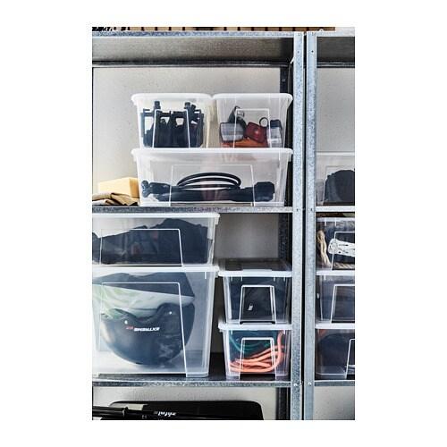 Samla Box Mit Deckel 57x39x28 Cm 45 L Ikea