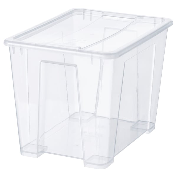 SAMLA Box mit Deckel transparent 39 cm 28 cm 28 cm 22 l