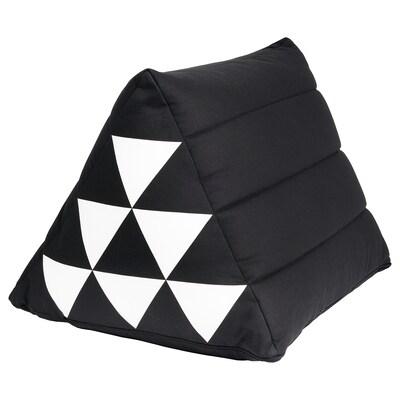 SAMMANKOPPLA Kissen dreieckig schwarz/weiß 50 cm 40 cm 1100 g 1495 g