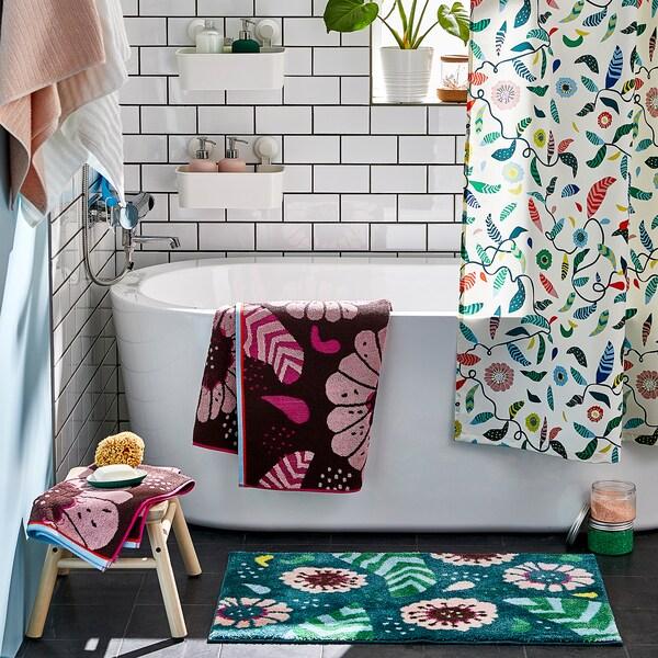 SANDVILAN Handtuch, rosa/bunt, 50x100 cm
