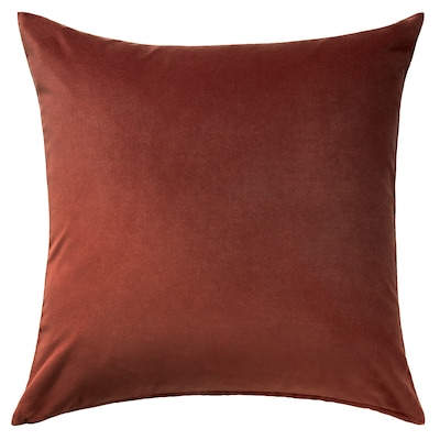 SANELA Kissenbezug, rot/braun, 65x65 cm