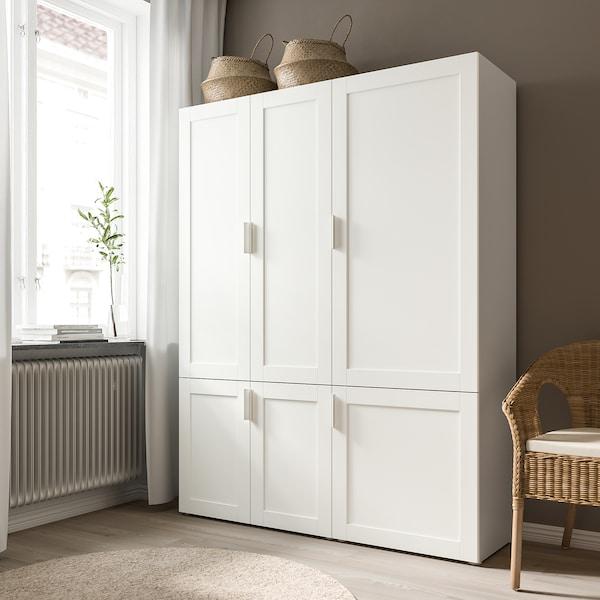 SANNIDAL Tür mit Scharnier, weiß, 40x120 cm