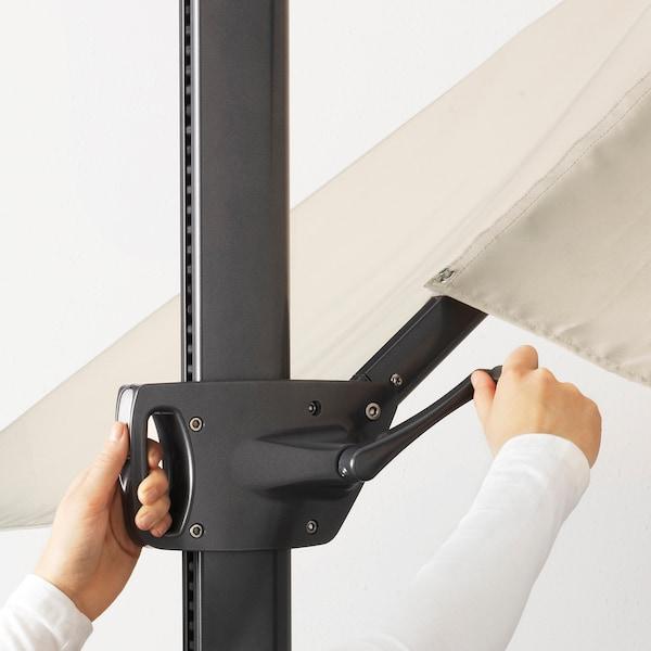 SEGLARÖ Hängesonnenschirm, beige/neigbar, 330x240 cm