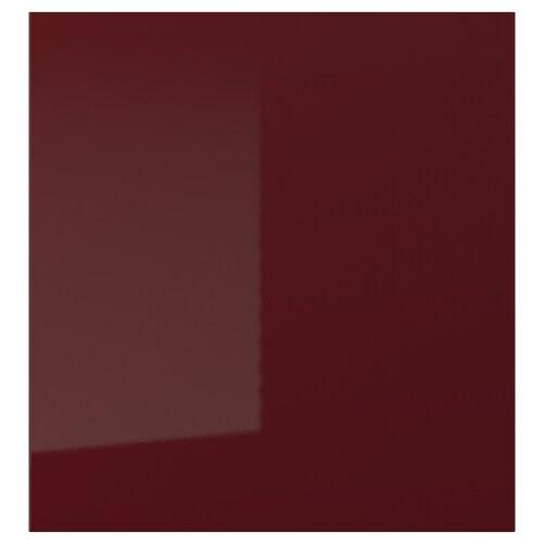 SELSVIKEN Tür Hochglanz dunkel rotbraun 60 cm 64 cm 2.0 cm