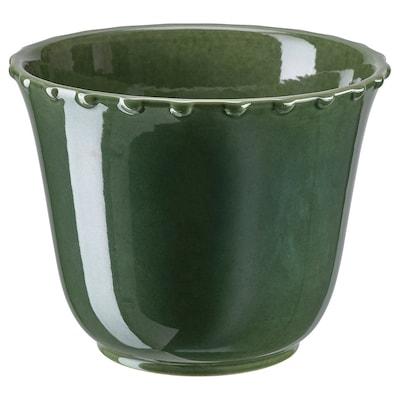 SHARONFRUKT Übertopf, drinnen/draußen grün, 12 cm