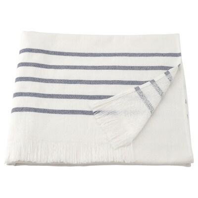 SIESJÖN Badelaken, weiß/blau Streifen, 100x150 cm