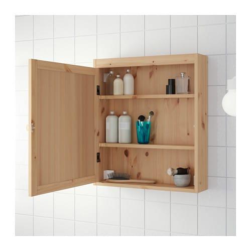 Spiegelschrank holz massiv  SILVERÅN Spiegelschrank - hellbraun - IKEA