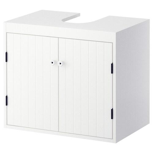 SILVERÅN Waschbeckenunterschrank, 2 Türen weiß 60 cm 38 cm 51.3 cm