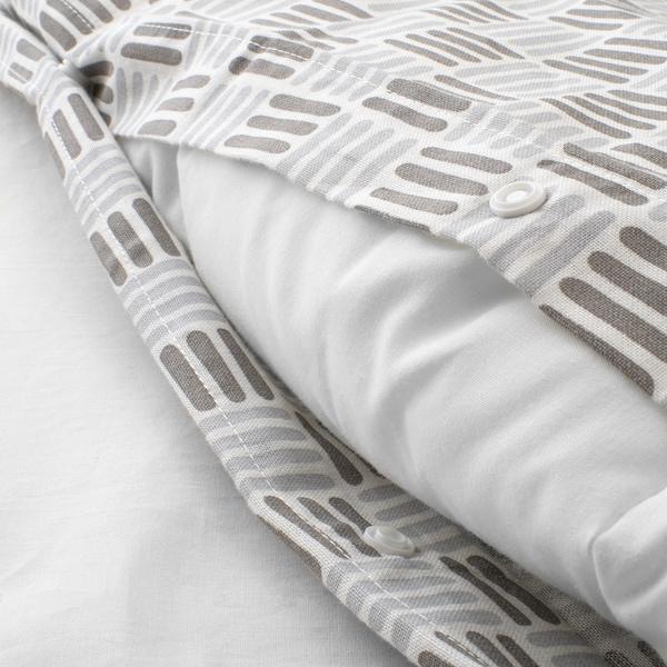 SILVERFRYLE Bettwäscheset, 2-teilig, weiß/grau, 140x200/80x80 cm