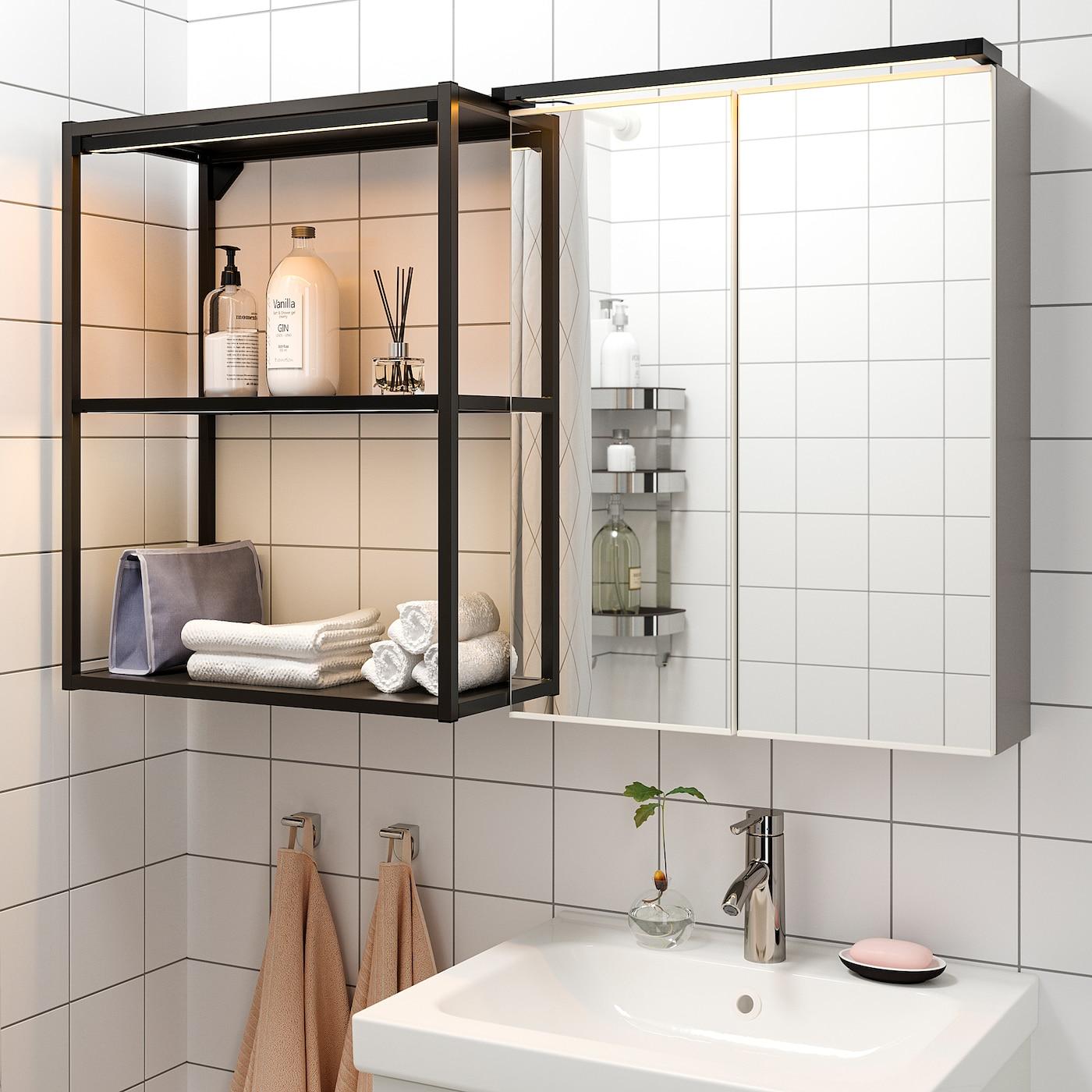 SILVERGLANS Lichtleiste, LED für Bad   dimmbar anthrazit 20 cm