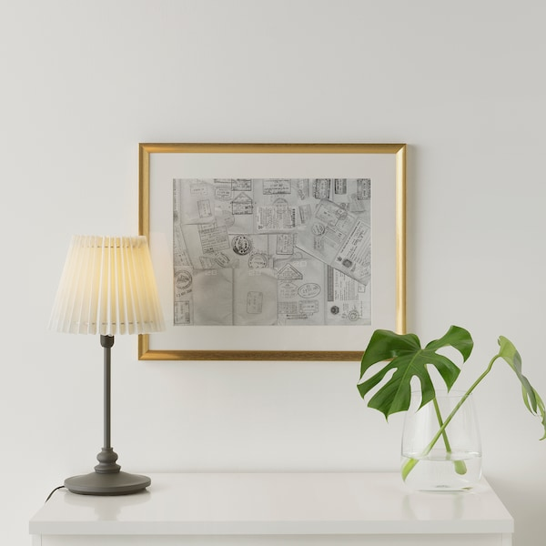 SILVERHÖJDEN Rahmen goldfarben 40 cm 50 cm 30 cm 40 cm 29 cm 39 cm 43 cm 53 cm