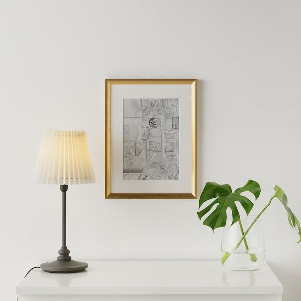 SILVERHÖJDEN Rahmen, goldfarben, 30x40 cm