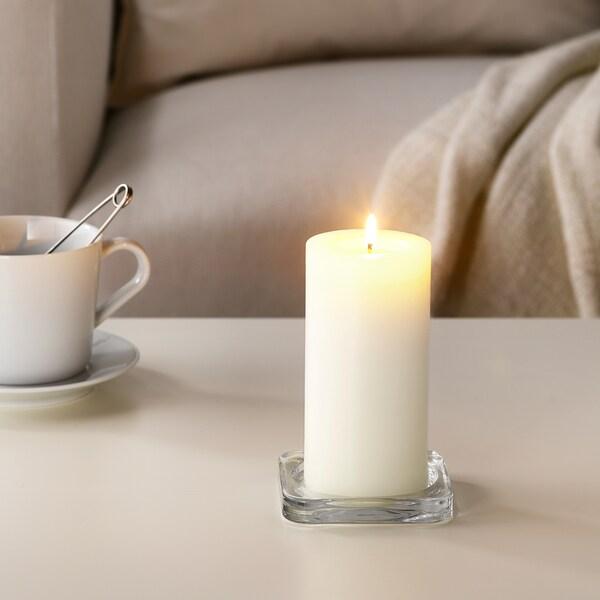 SINNLIG Blockkerze, duftend, Süße Vanille/naturfarben, 14 cm