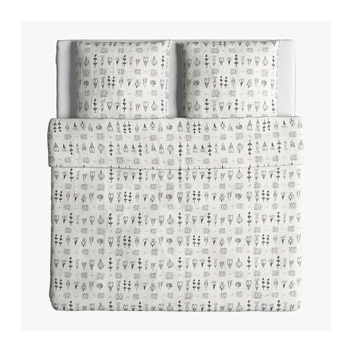ikea bettw sche bettw scheset 3 tlg set bettw schegarnitur bergr e 240x220 cm ebay. Black Bedroom Furniture Sets. Home Design Ideas