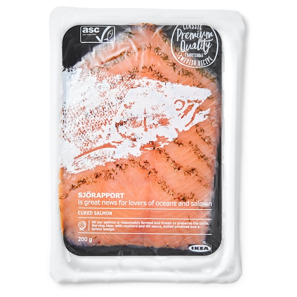 SJÖRAPPORT Gravad Lachs ASC-zertifiziert/gefroren 200 g