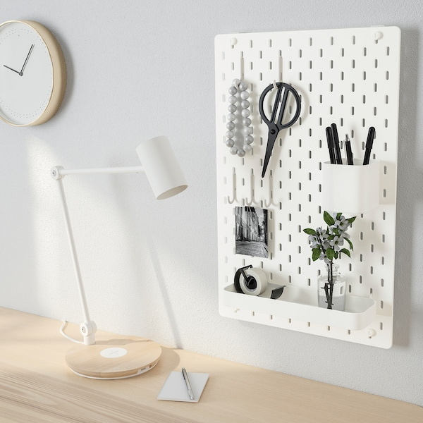 SKÅDIS Lochplatte/Kombination weiß 36 cm 12 cm 56 cm