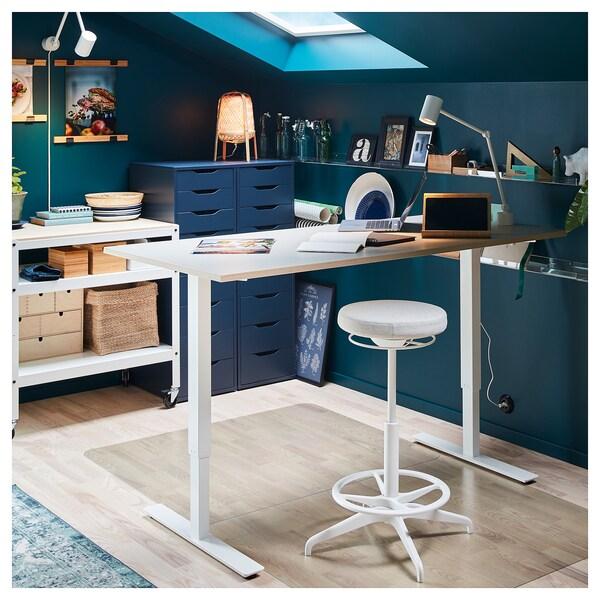 SKARSTA Schreibtisch sitz/steh weiß 160 cm 80 cm 70 cm 120 cm 50 kg