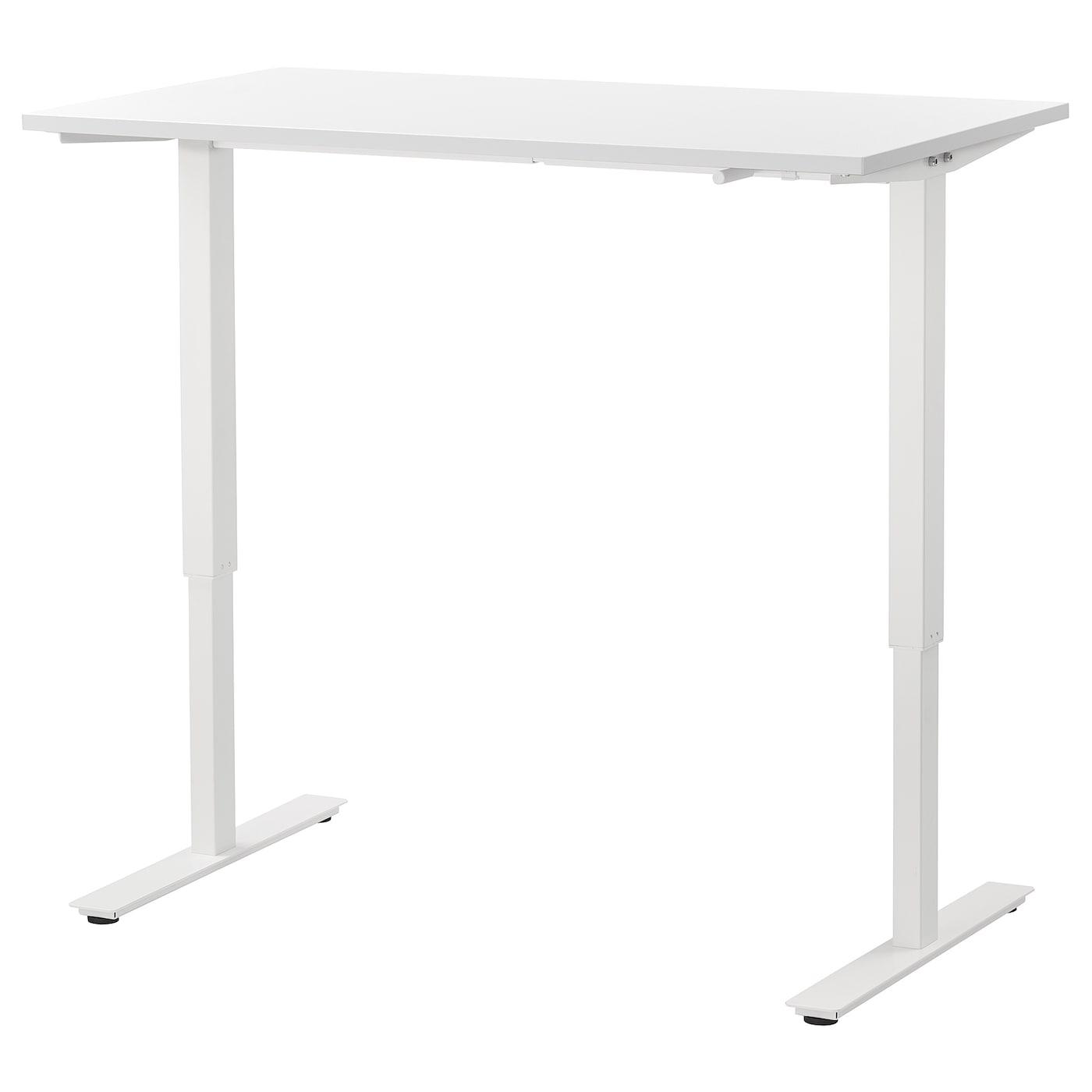 SKARSTA Schreibtisch sitzen/stehen - weiß 120x70 cm