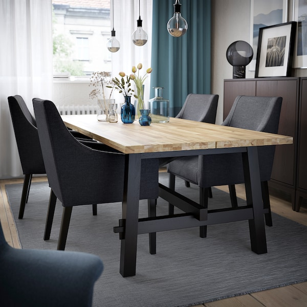 Skogsta Sakarias Tisch Und 4 Stuhle Akazie Schwarz Sporda